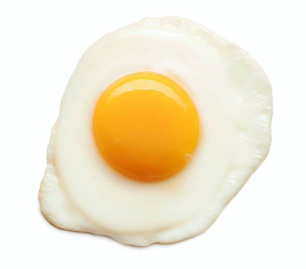 fried egg isolated - fried egg stock photos and pictures
