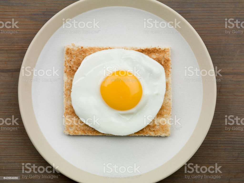 Fried Egg on Toast stock photo