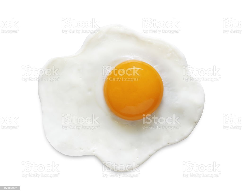 Fried Egg (clipping path) stock photo