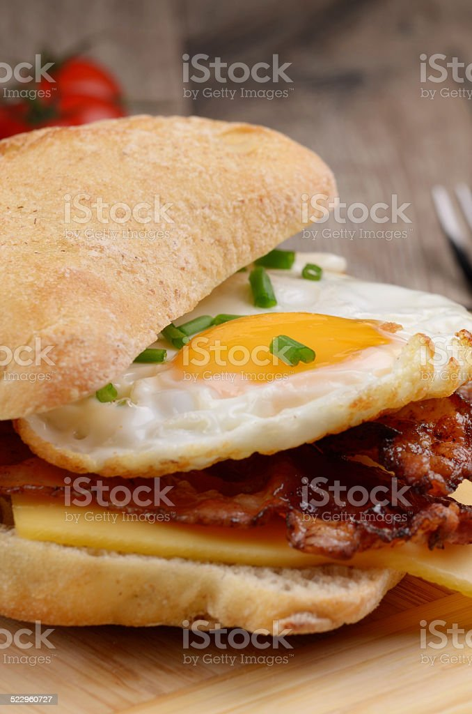 Fried egg sandwich stock photo