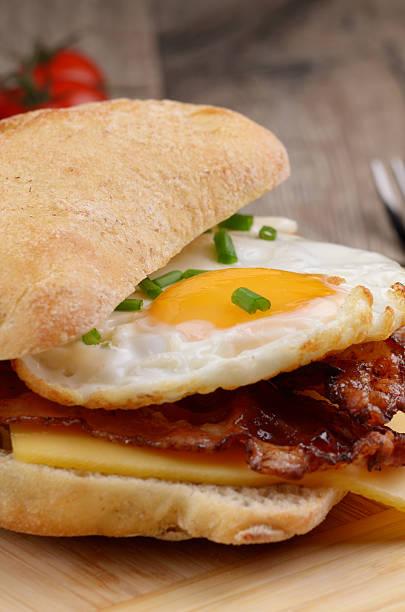 Fried egg sandwich stock photo