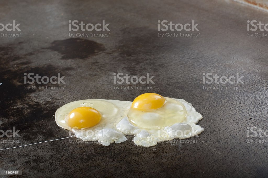 Fried eggs on a grill​​​ foto