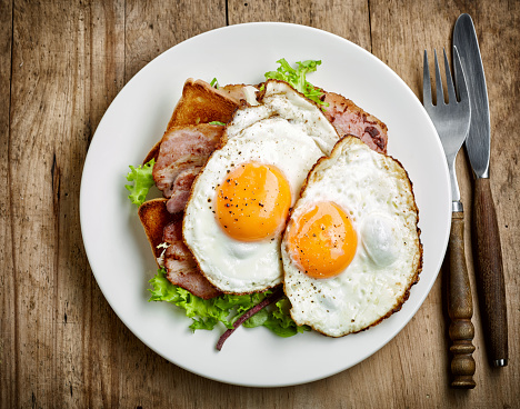 Fried Twin Egg On A Plate Stock Photo - Image: 46724164  |Fried Eggs On A Plate