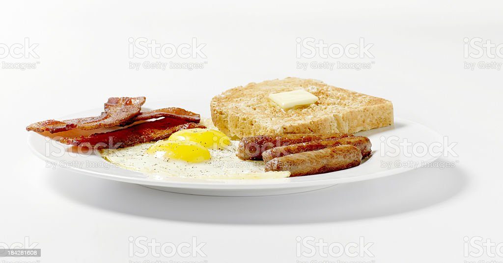 Fried Eggs with Toast royalty-free stock photo