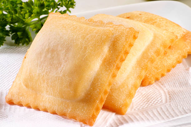 Fried empanadas stock photo