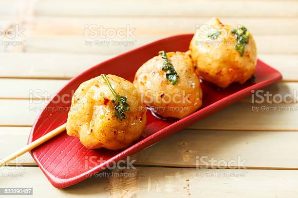 Fried Fish Ball Stock Photo - Download Image Now