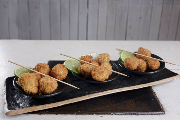 Fried fish balls - foto stock