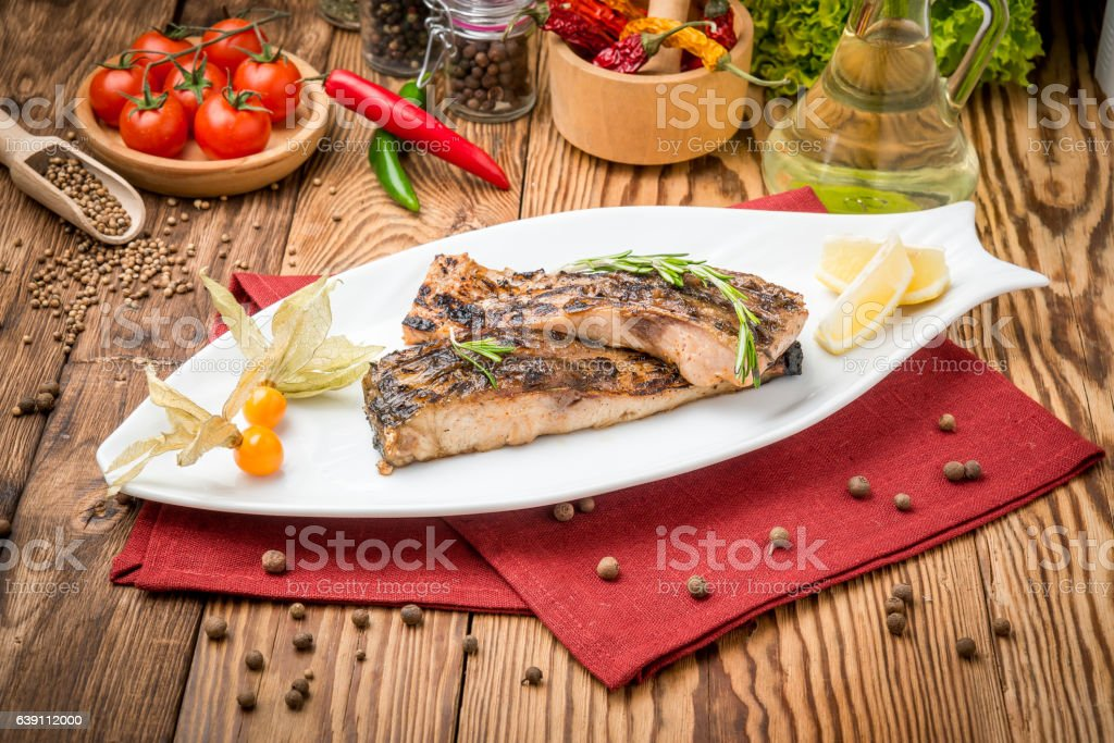 Fried fish carp on the grill – Foto