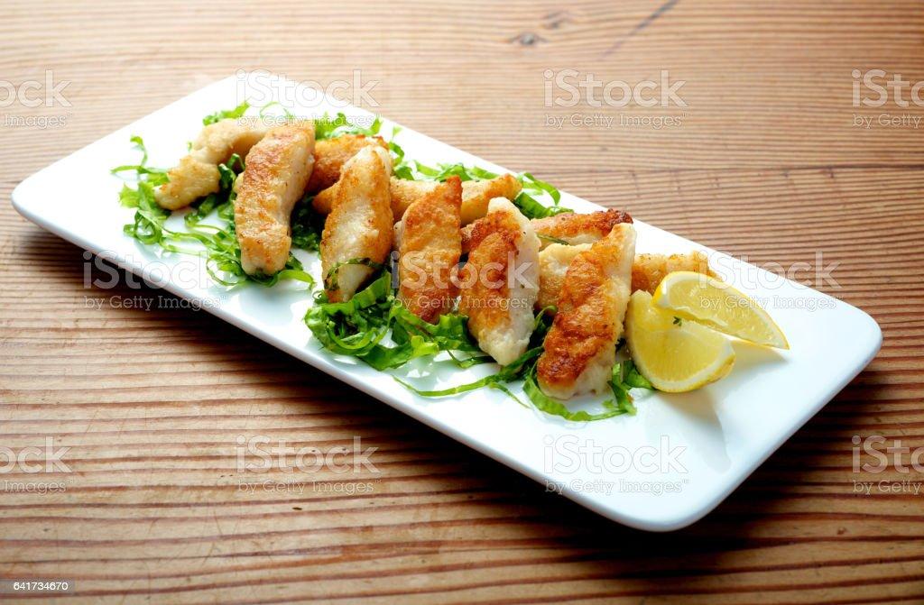 Fried Fish Dish - foto de acervo