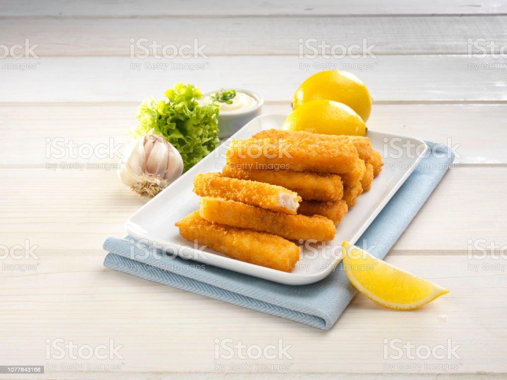 Gebratene Fischstäbchen – Foto