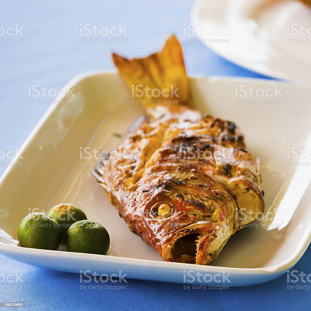 fried fish royalty-free stock photo