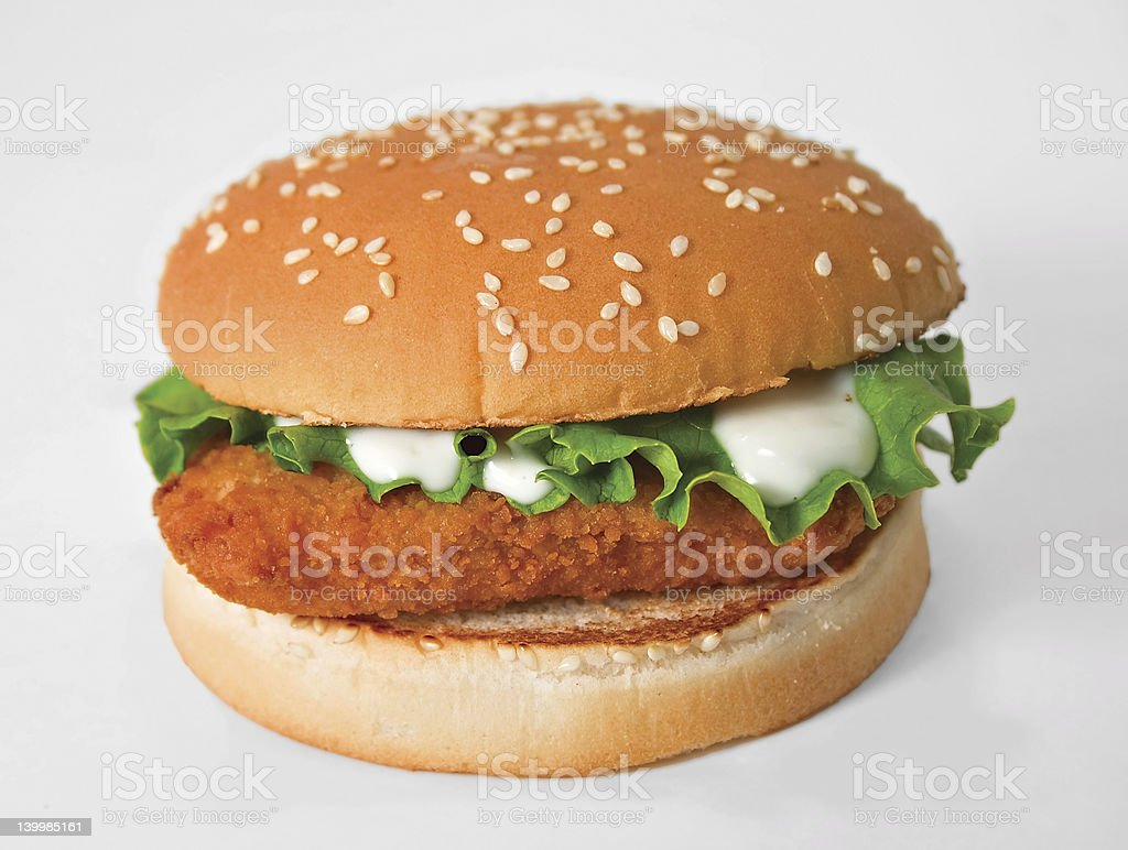 Fried Fish Sandwich royalty-free stock photo