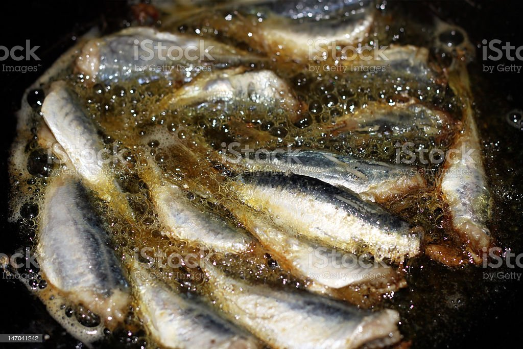 Fried Fishes royalty-free stock photo