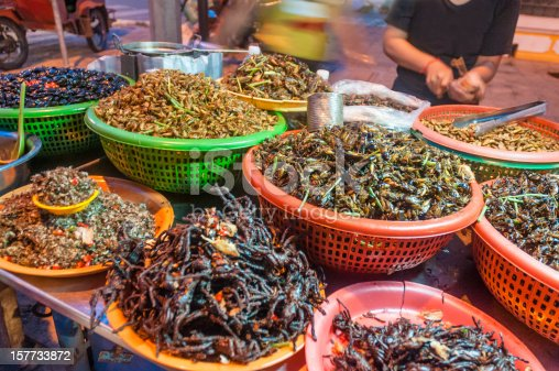 istock Fried Insects And Bugs For Sale In Phnom Penh, Cambodia 157733872