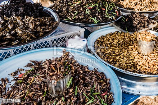 istock Fried insects for sale in street market Siem reap Cambodia 517276408