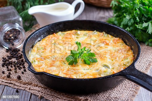 istock Fried leeks with cheese 861397590