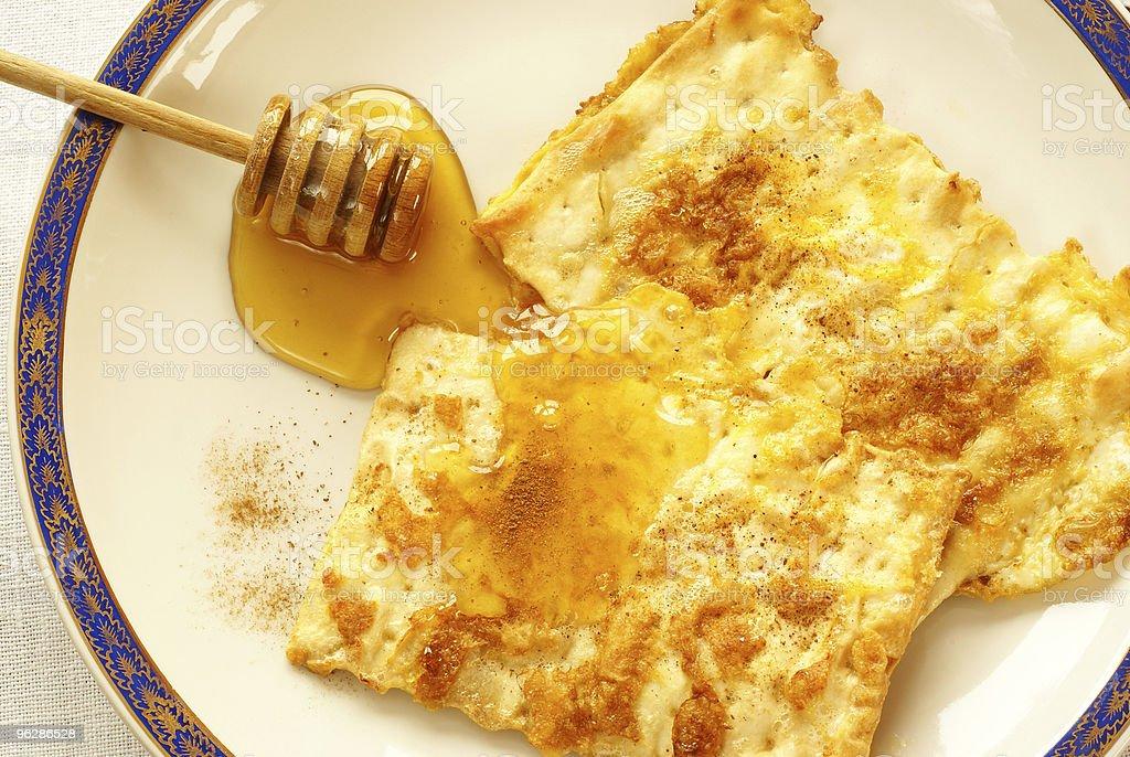 "Fried matzo (""matzo brei"") royalty-free stock photo"