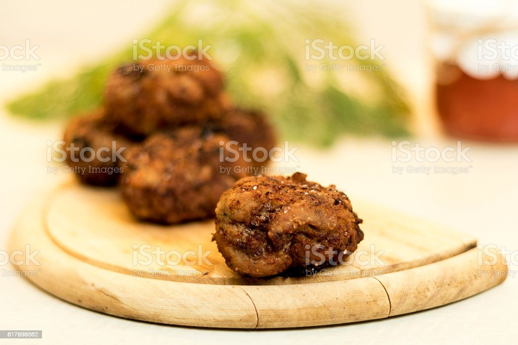 Fried Meatballs stock photo