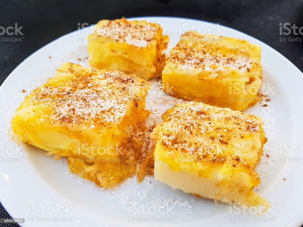 Fried milk dessert royalty-free stock photo