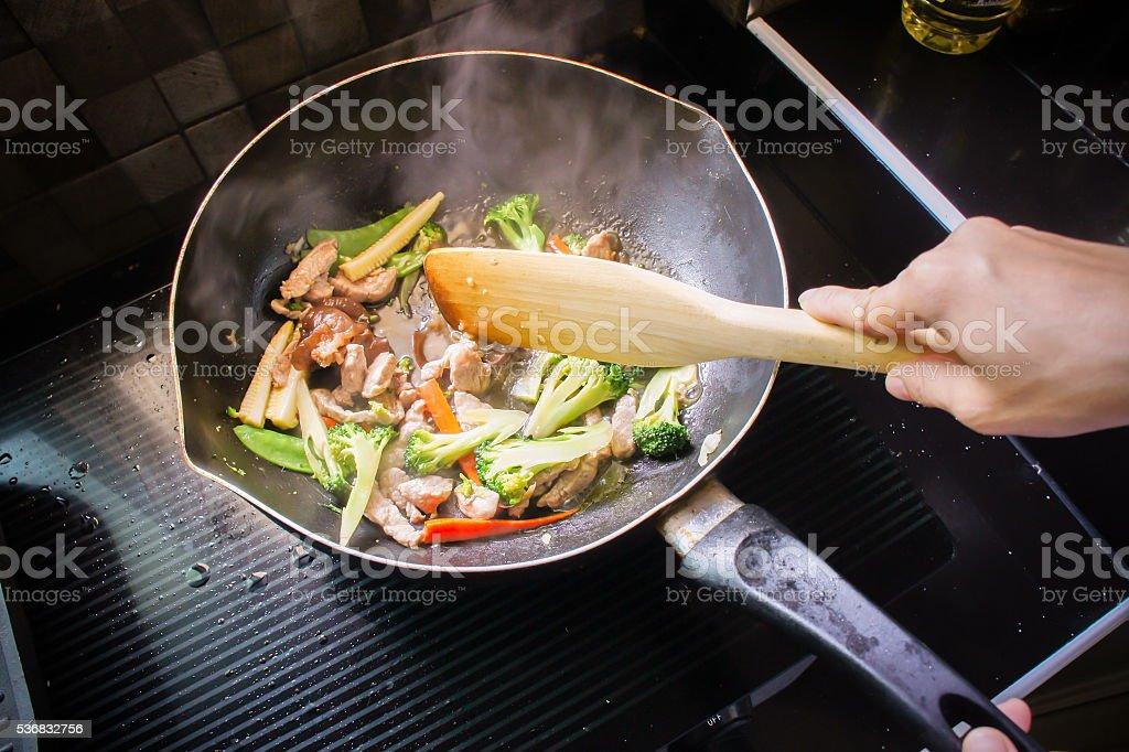 Gebratene gemischte Gemüse Kochen – Foto