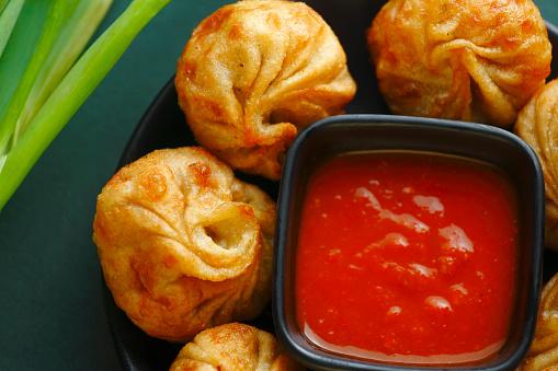 Fried momos dumpling