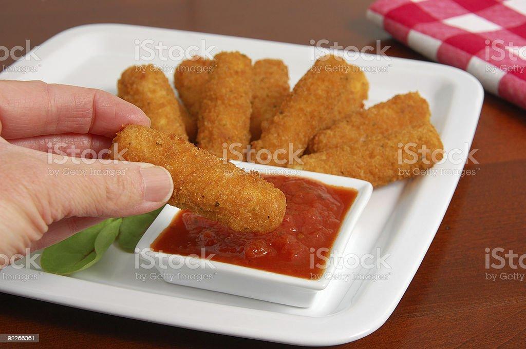 Fried Mozzarella Sticks royalty-free stock photo