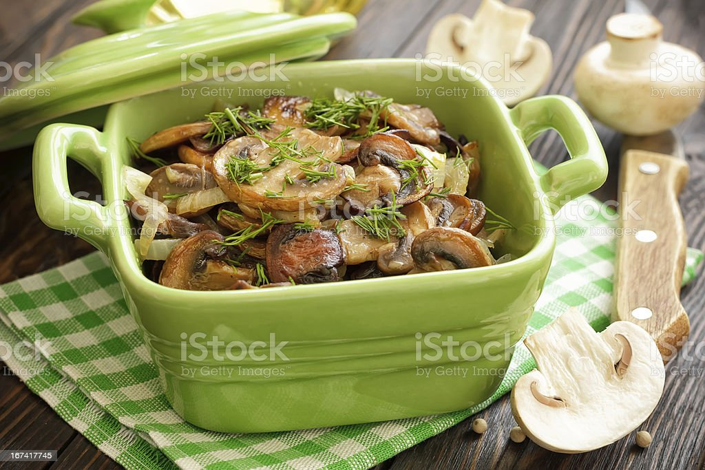 Fried champignons royalty-free stock photo