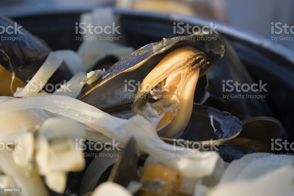 Moules Frites royalty-free stock photo