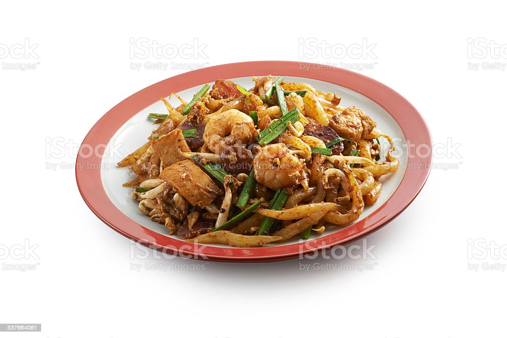 Fried Noodle with prawn stock photo