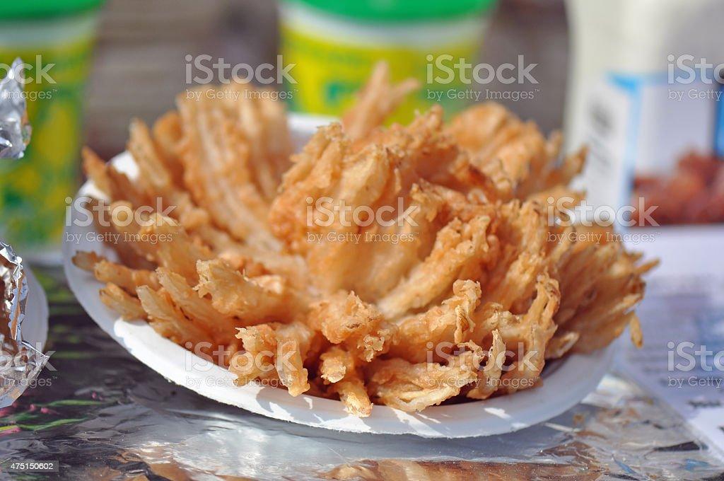 Fried Onion Blossom stock photo