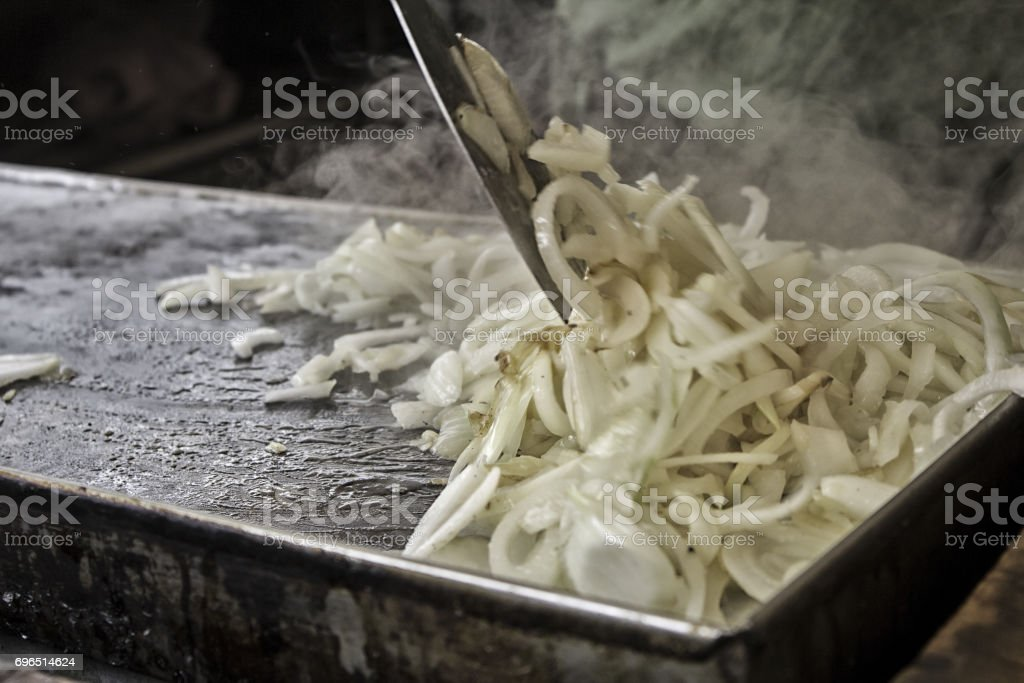 Fried onion irons stock photo