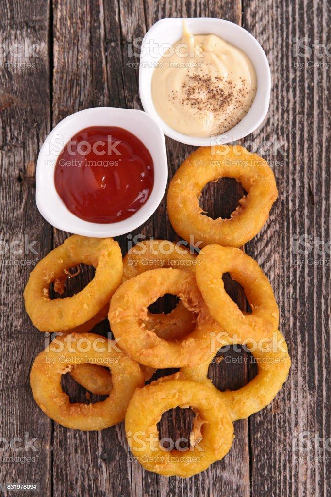 De cebola frita - foto de acervo