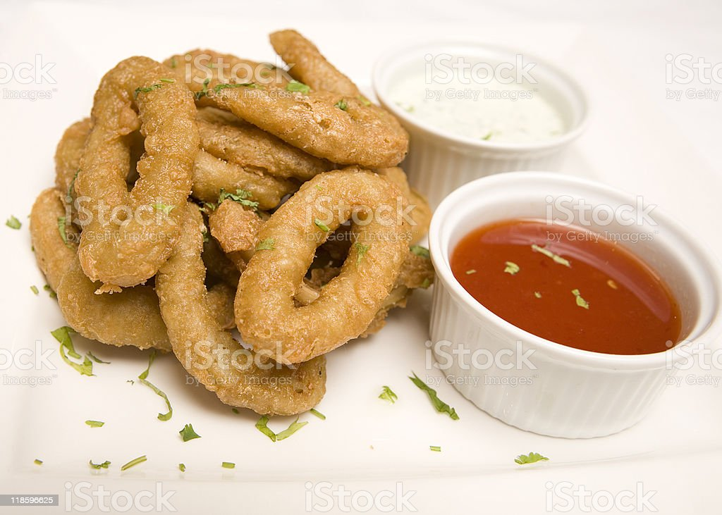 Fried Onion rings royalty-free stock photo