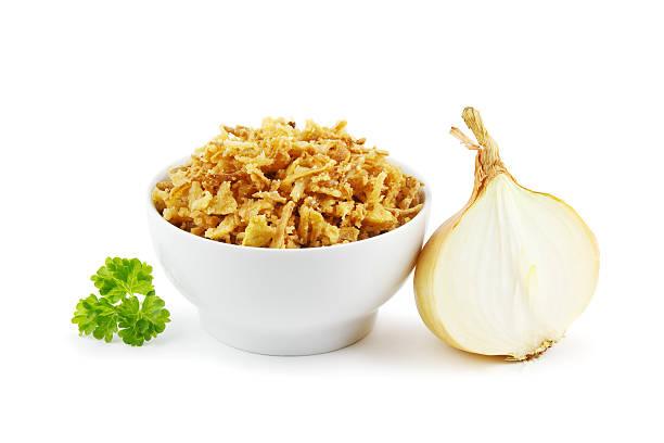 Fried onions stock photo