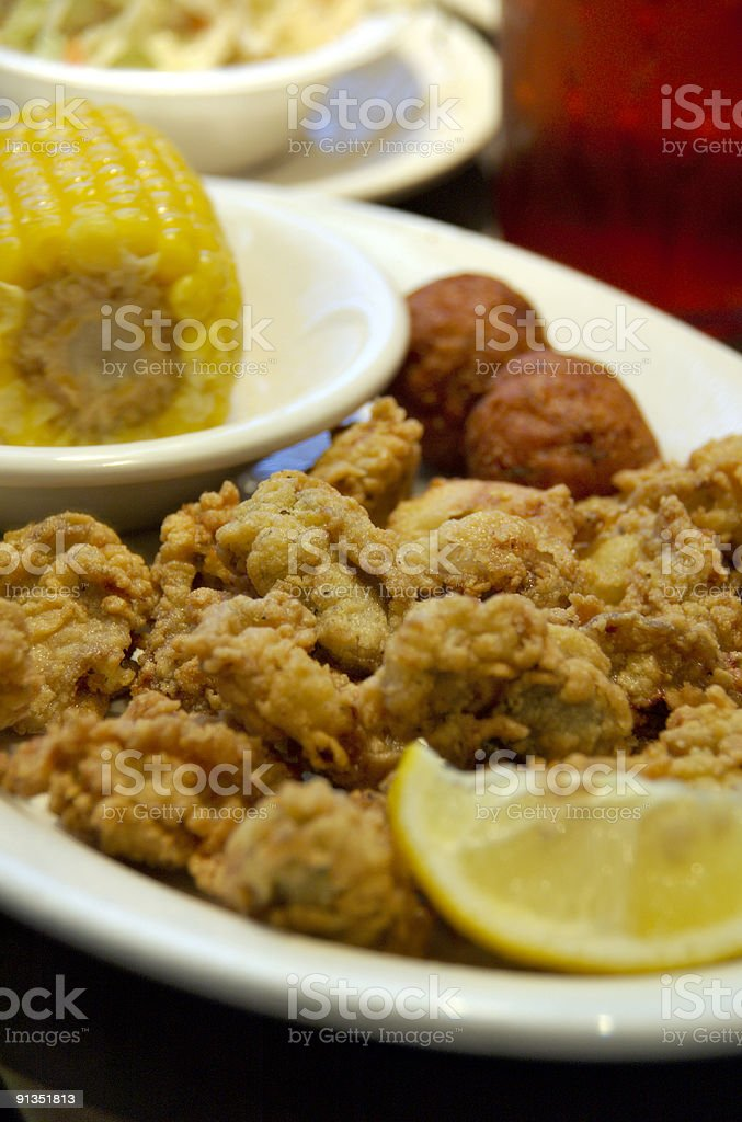 Fried Oysters stock photo
