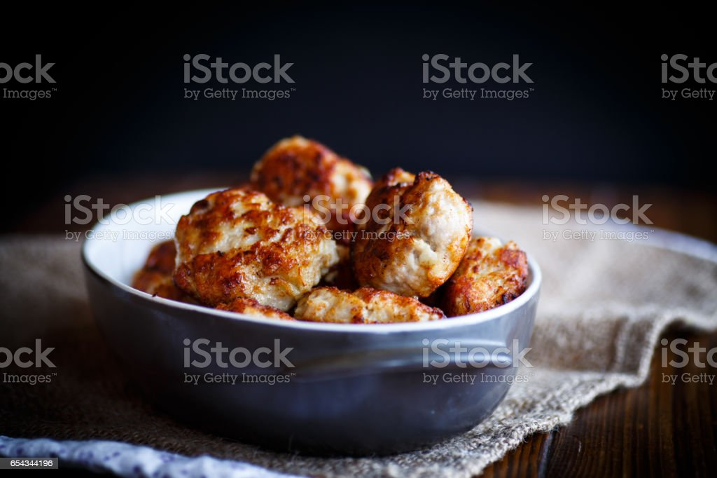 fried pork chops stock photo