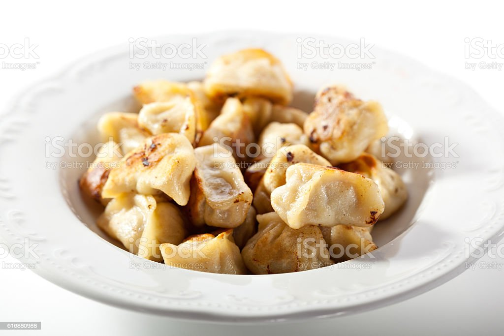 Fried Pork Dumplings stock photo