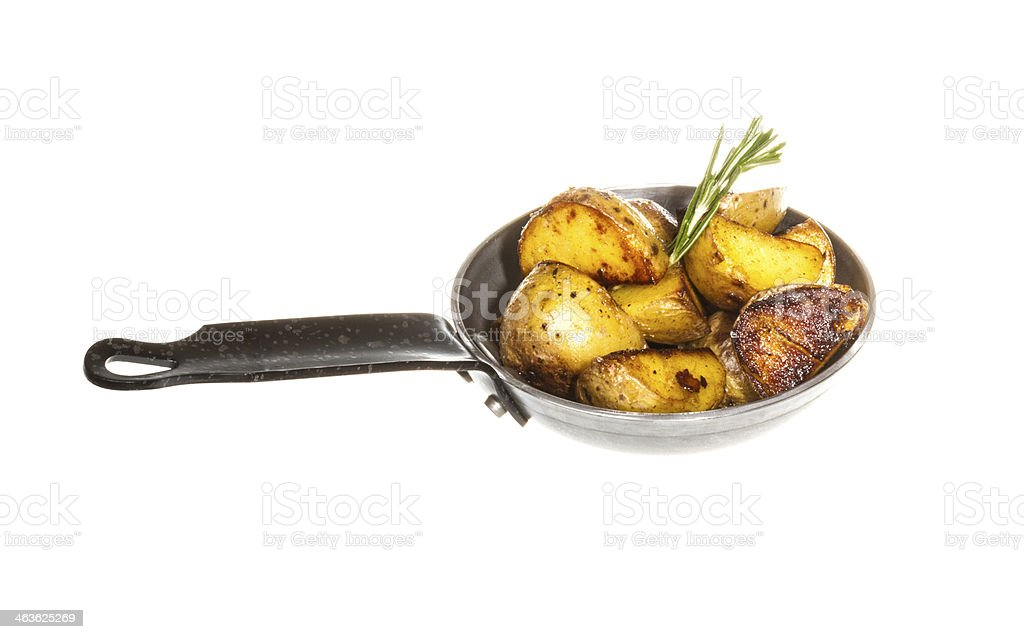 fried potato wth rosmarin royalty-free stock photo
