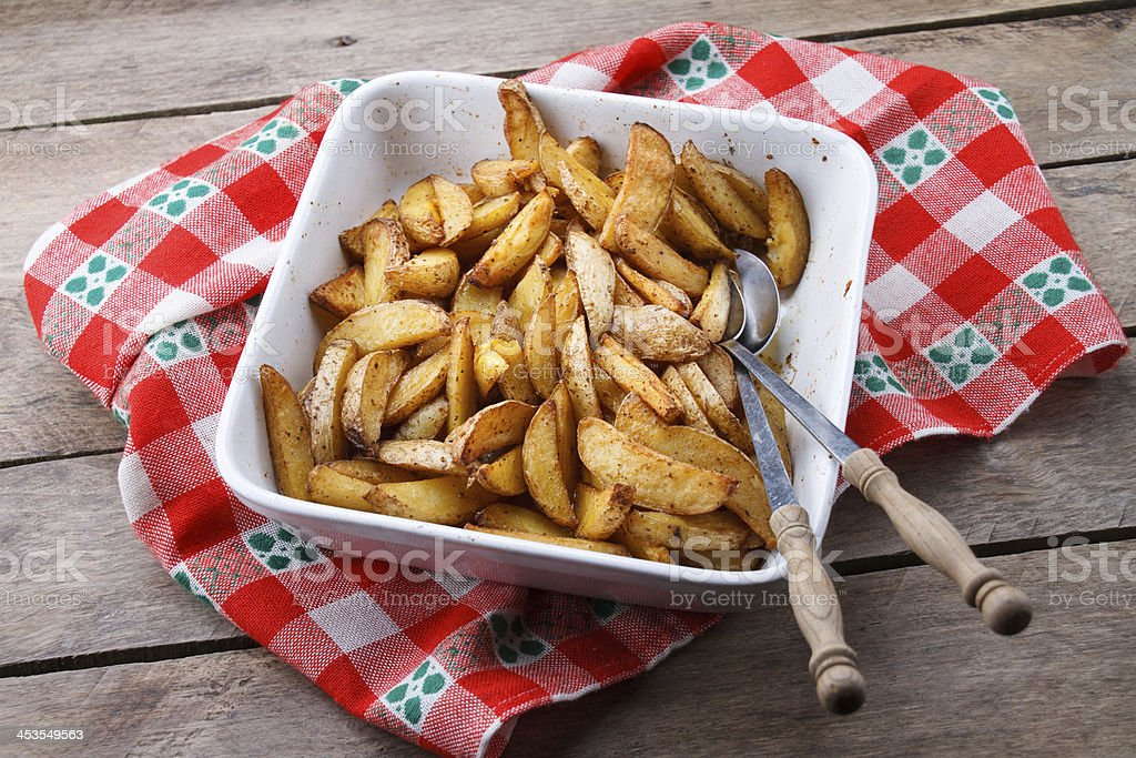Fried potatoes. royalty-free stock photo