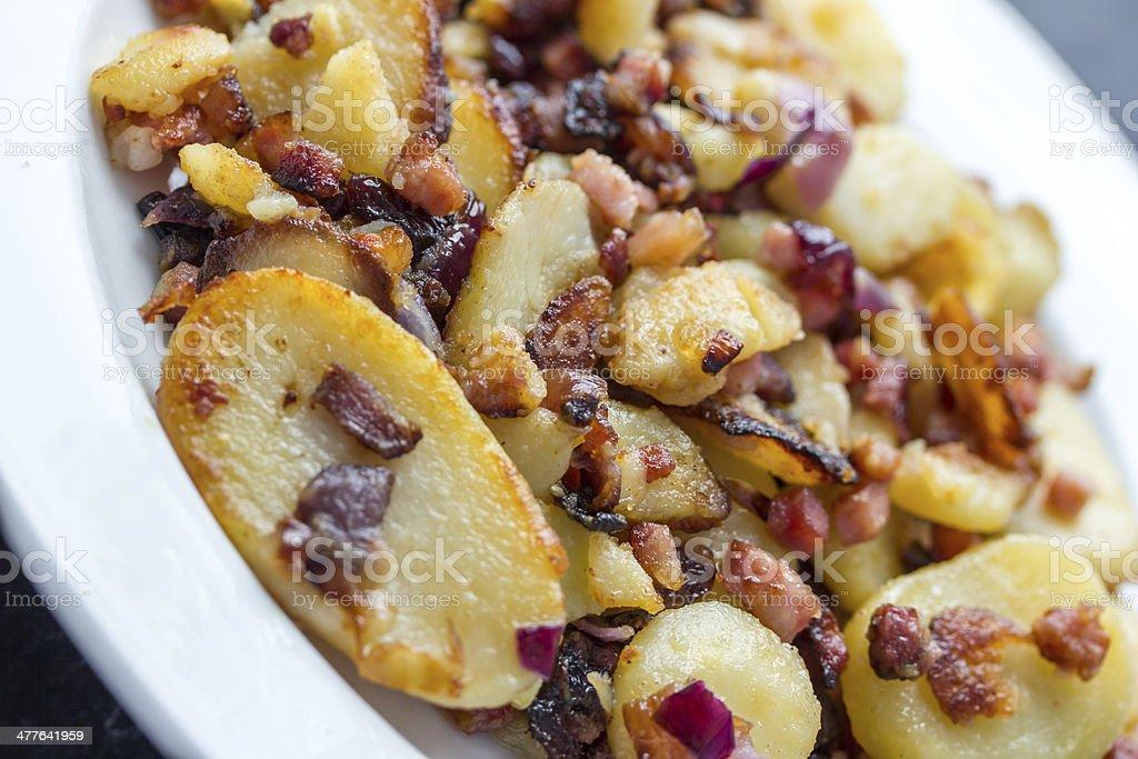 fried potatoes royalty-free stock photo