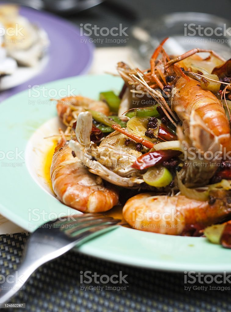 Fried Prawns royalty-free stock photo