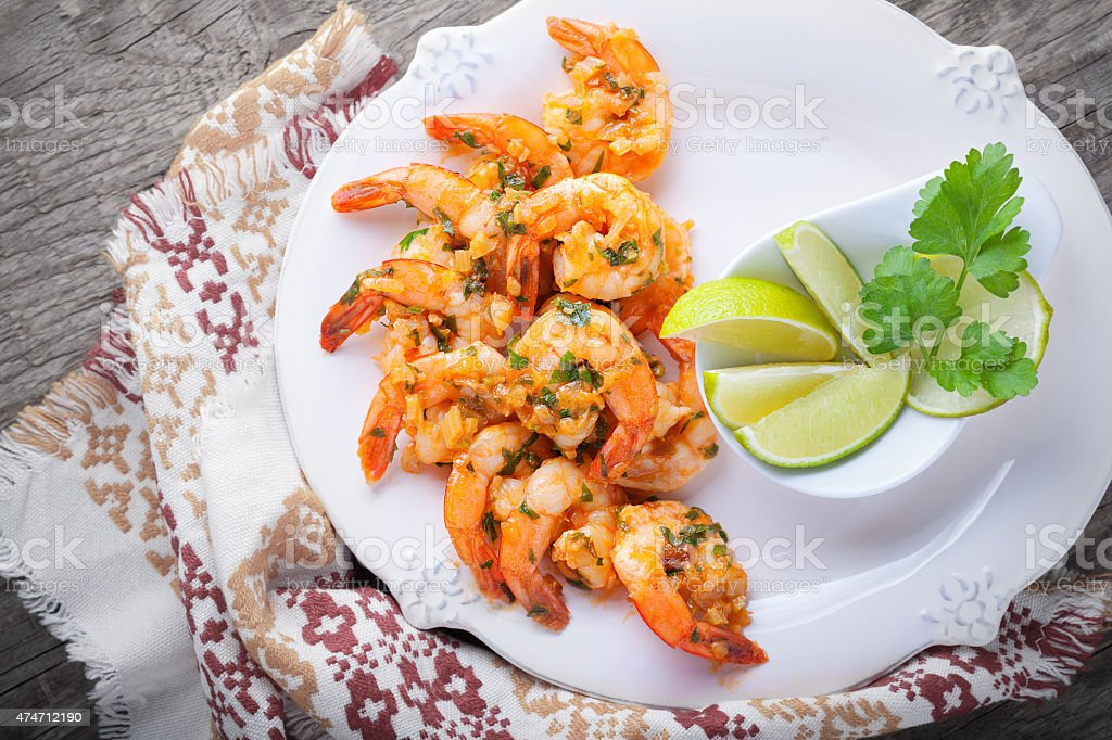 Fried Prawns stock photo