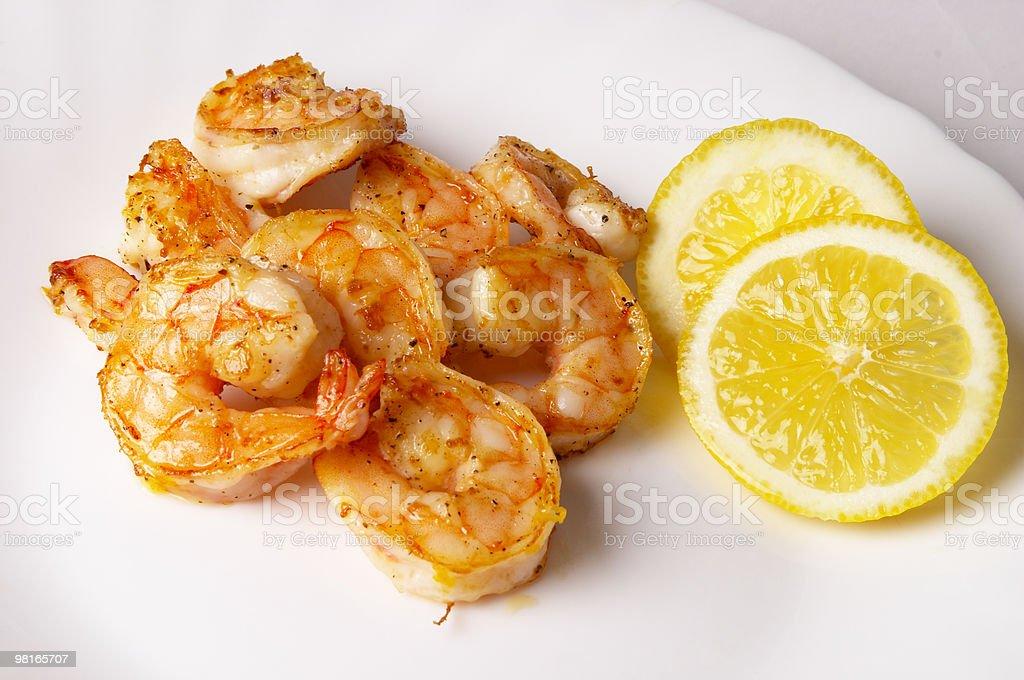 Fried prawns royalty-free stock photo