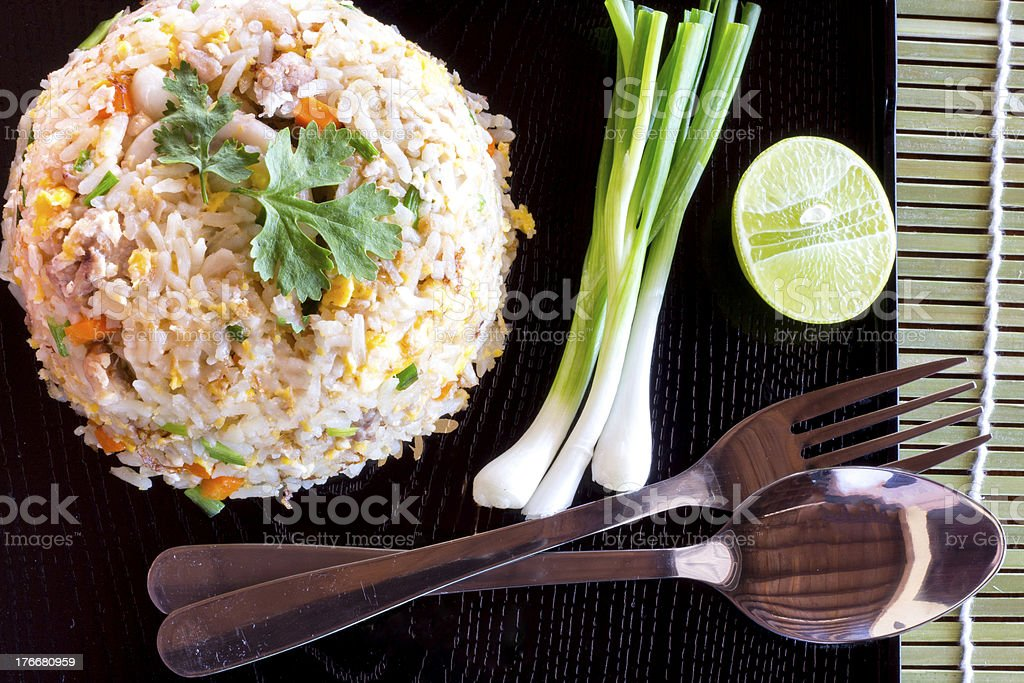 fried rice an excellent side order royalty-free stock photo
