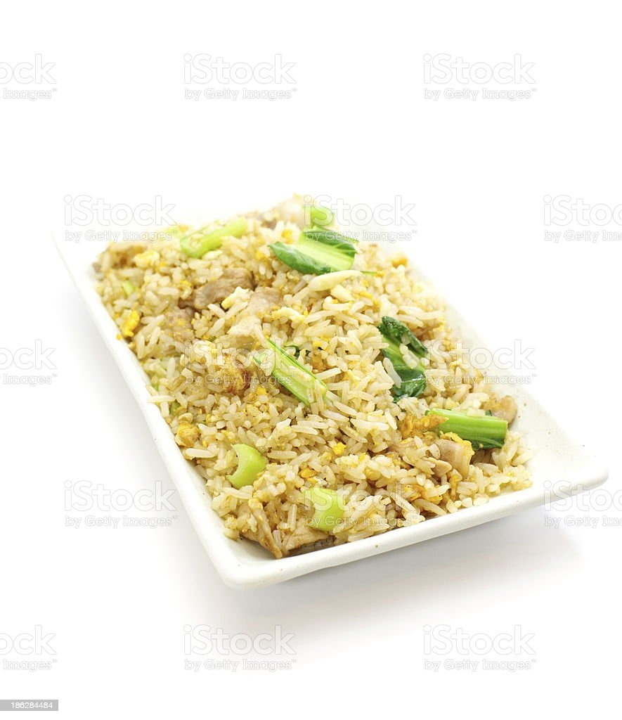 fried rice an excellent side order with chinese food royalty-free stock photo
