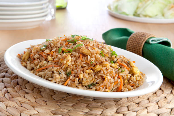 Fried Rice a plate of fried rice fried rice stock pictures, royalty-free photos & images