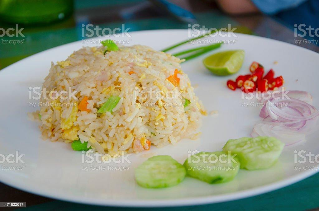 Fried rice. royalty-free stock photo