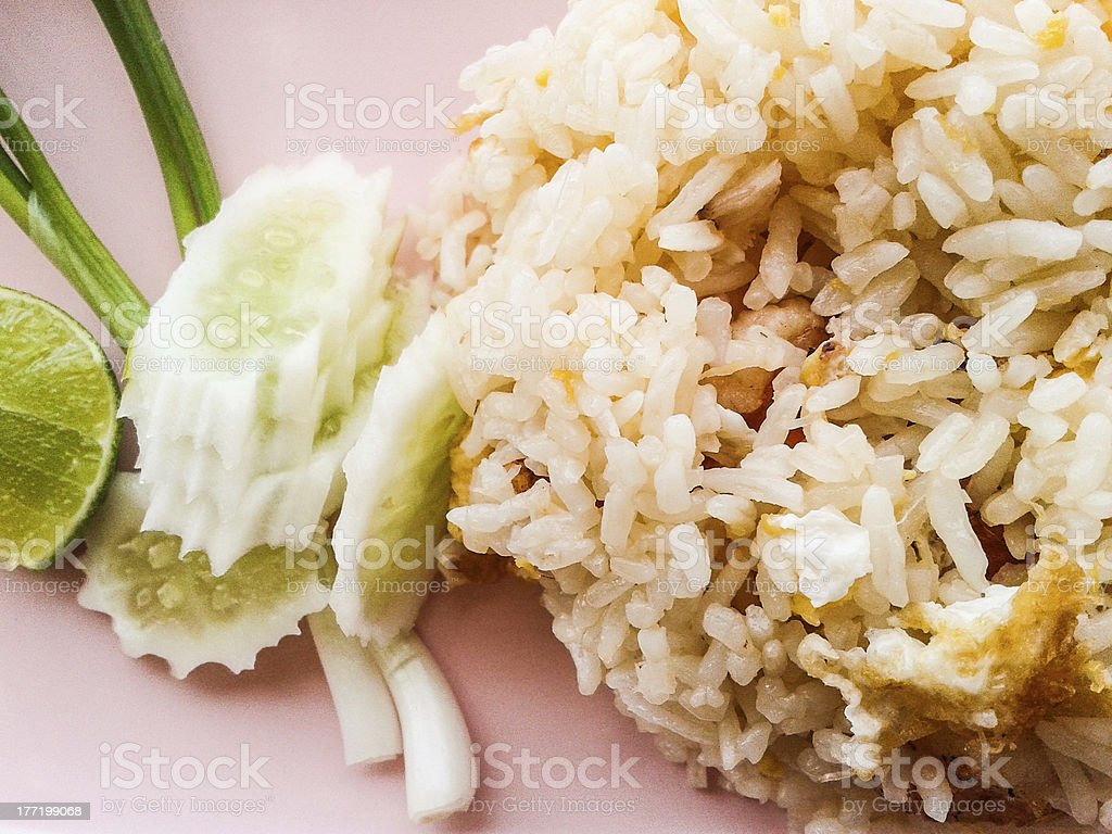 fried rice with eggs royalty-free stock photo