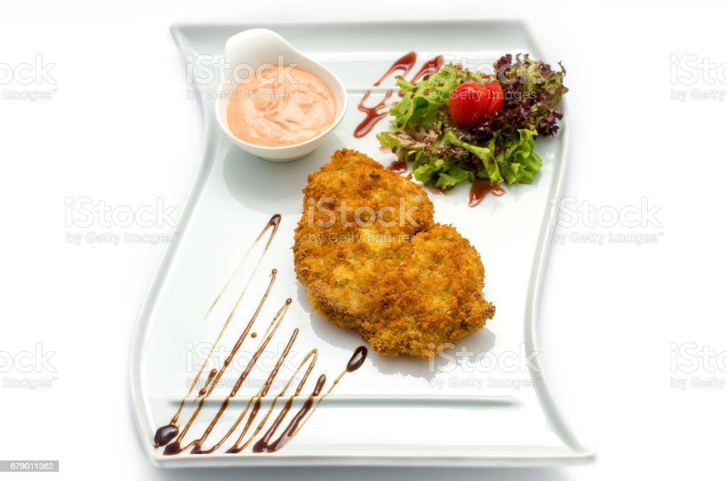 Salade de légumes frits schnitzeland photo libre de droits
