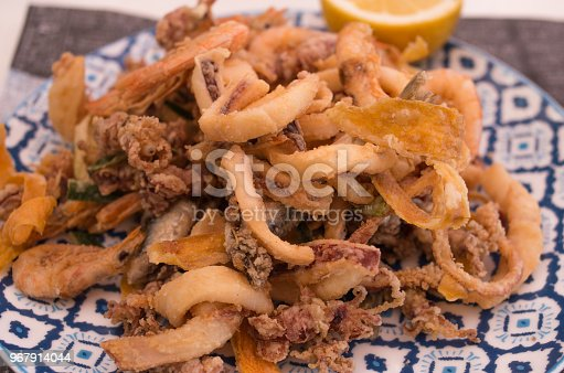 istock Fried sea fish italian 967914044
